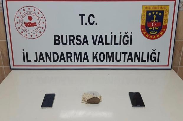 Bursa'da lavaş arası 500 gr esrar ele geçirildi: 2 gözaltı