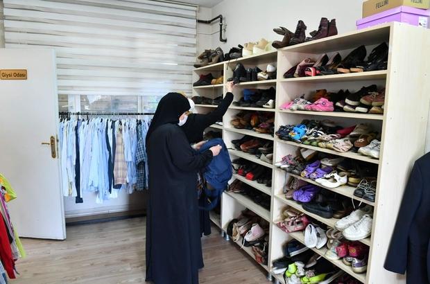Bağışlanan giysiler ihtiyaç sahiplerini sevindiriyor Giysi mağazasından yılda yaklaşık 6 bin aile istifade ediyor