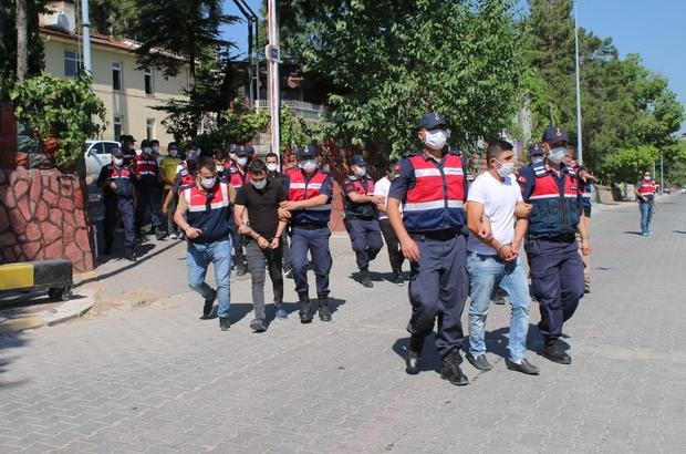 Jandarmanın dev uyuşturucu operasyonunda 15 kişi tutuklandı