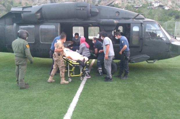 Kaçkar Dağı'na tırmanırken düşmüştü Kaçkar Dağı'na tırmanırken yaralan dağcı askeri helikopterle kurtarıldı