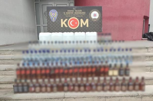 Adana'da 100 bin lira değerinde kaçak içki ele geçirildi