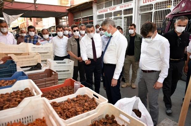 Büyük Şire Pazarı için sosyal mesafe uyarısı