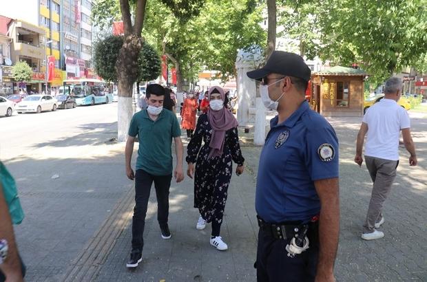 Malatya'da maskesiz sokağa çıkanlara ceza