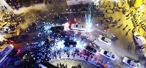 Hatayspor şampiyonluğu taraftarıyla kutladı TFF 1. Lig'i şampiyon tamamlayan Hatay'da coşku tavan yaptı