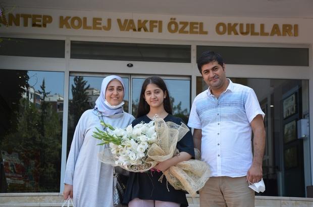 """Şampiyonun tercihi yine Gaziantep Kolej Vakfı LGS Türkiye şampiyonu GKV Özel Okulları öğrencisi Merve Nida Ekin: """"Başarımı GKV'ye ve planlı çalışmaya borçluyum"""""""