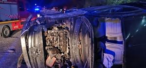 Alkollü sürücünün kullandığı kamyonet yan yattı; 1 ölü, 5 yaralı