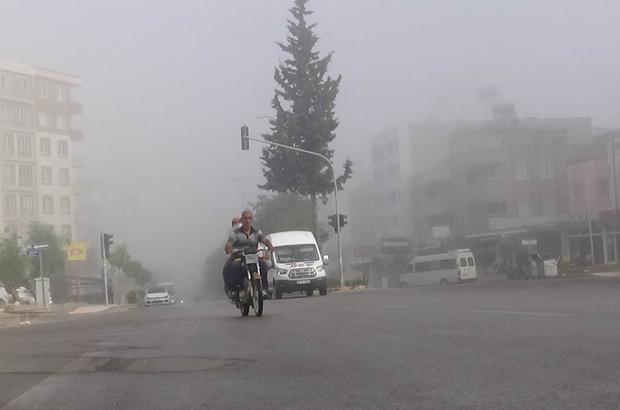 Kilis'te yoğun sis etkili oldu