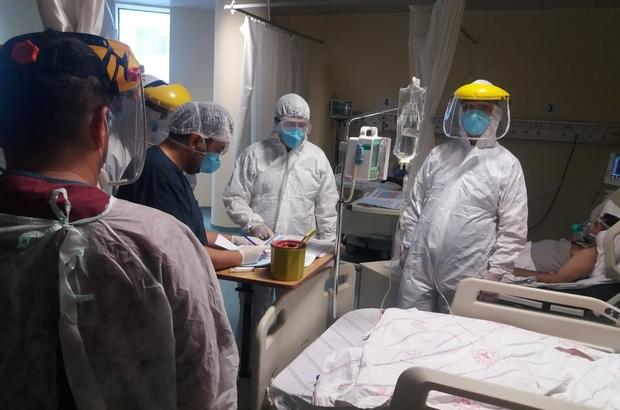 Müdür Sünnetçioğlu'ndan korona virüs hastalarına ziyaret