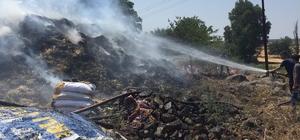 Hatay'da saman balyaları yandı