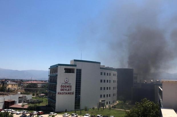 Ödemiş Devlet Hastanesinde yangın