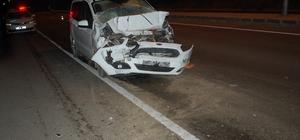 Alkollü sürücü hurdaya dönen araçtan yara almadan çıktı