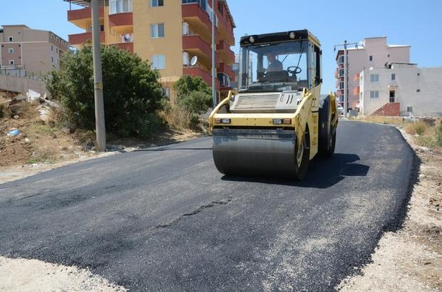 Aliağa'da asfaltlama çalışmaları tüm hızıyla sürüyor
