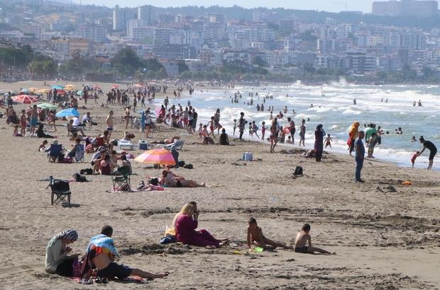 Samsun Atakum sahilde hafta sonu yoğunluğu