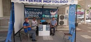 Beyşehir'de vekalet yoluyla kurban bağışı alımı sürüyor