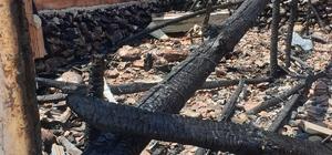 9 yıllık emeği yangınla gitti Ağılda çıkan yangında 22 küçükbaş hayvan telef oldu