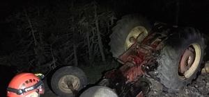 Kayıp ihbarı verilen yaşlı adam devrilen traktörün altında ölü olarak bulundu