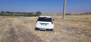 Kontrolden çıkan araç tarlaya girdi: 5 yaralı