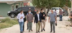 Başkan Vekili Aslan, Kavuncu ve Karpuzalan mahallerindeki çalışmaları inceledi