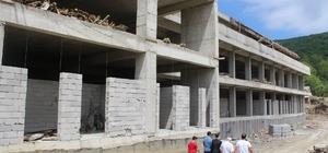 Cide Devlet Hastanesinin kaba inşaatı tamamlandı