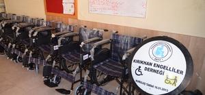 Mehmetçik engellileri sevindirdi Şırnak'ta görev yapan Mehmetçiklerden Kırıkhan Engelliler Derneği'ne 12 adet tekerlekli sandalye