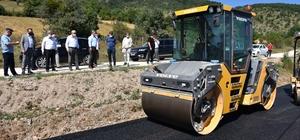 Genel Sekreter Uzun ve Meclis Başkanı Yıldırım, devam eden asfalt çalışmalarını inceledi