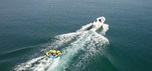 Van Gölü sahilleri Akdeniz ve Ege'yi aratmıyor Van Gölü'nde yapılan birçok sportif aktivite drone ile görüntülendi