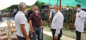 Başkan Esat Öztürk kurban pazarını ziyaret etti