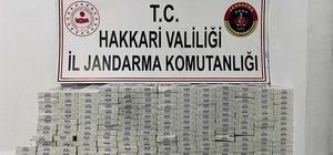 Şemdinli'de 15 bin 530 paket gümrük kaçağı sigara ele gerildi