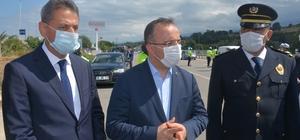 İçişleri Bakan Yardımcısı Çataklı Sinop'ta trafik denetimine katıldı