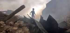 Tercan'daki yangında 4 ev ile 5 ahır zarar gördü