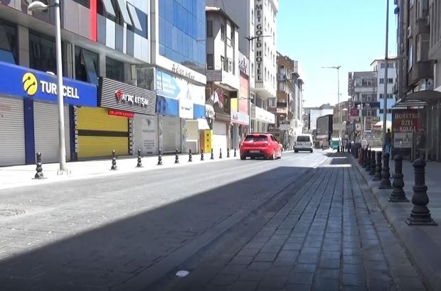 Gaziantep'te cadde ve sokaklar bu kez bomboş kaldı Vaka sayısı tavan yapan Gaziantep Bayramın ilk günü en sakin gününü yaşıyor