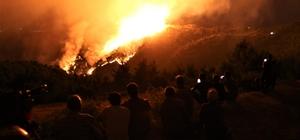Yangını çaresizlikle izlediler Manisa'da çıkan orman yangını kısmen kontrol altına alındı