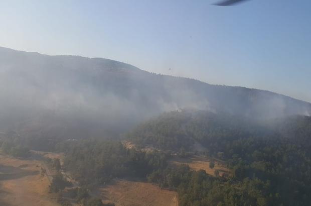 2 farklı noktadaki orman yangınlarından biri kontrol altına alındı Orman yangınında alevler kontrol altına alındı soğutma çalışmaları başladı