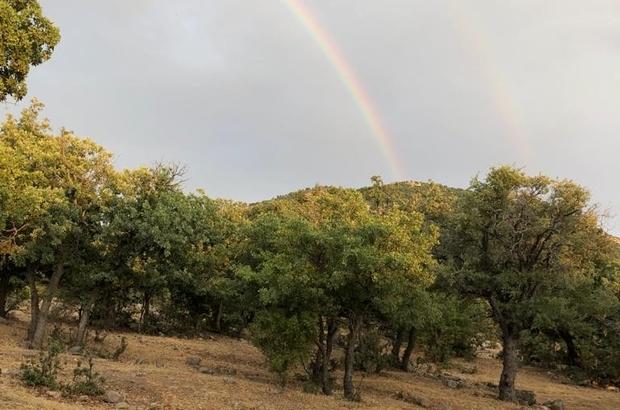 Konya'da çift gökkuşağı dikkat çekti