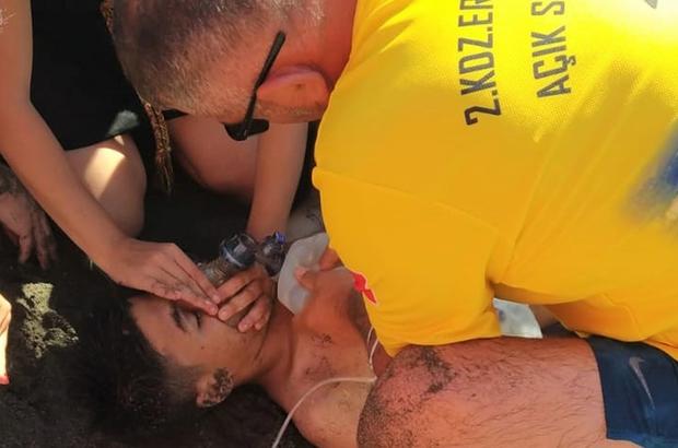 Serinlemek için denize giren çocuk boğuldu