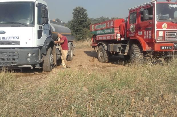 Orman yangınını söndürme çalışmalarına Yunusemre Belediyesi de destek verdi