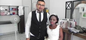 Gine'den Lüleburgaz'a evlilik yolculuğu Gineli Kante Lüleburgaz'a gelin geldi