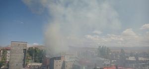 Ağrı'nın Diyadin ilçesinde korkutan yangın