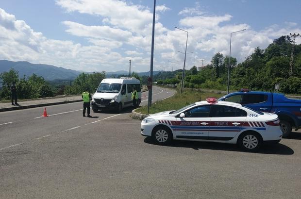 Ordu'da jandarma Kurban Bayramı'nda 24 aracı trafikten men etti