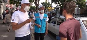Pilot il Kırıkkale'de 'maske ve sosyal mesafe' denetimi yapıldı Ekipler caddelerde vatandaşları tek tek uyardı Vatandaş yeni uygulamadan memnuniyetini dile getirdi
