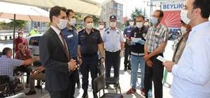 Beylikova'da korona virüs denetimi