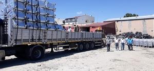 Çevre ve Şehircilik Bakanlığından Çaldıran Belediyesine 200 adet çöp konteyneri