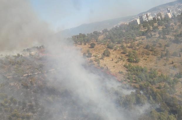 İzmir'de aynı anda 2 yangın