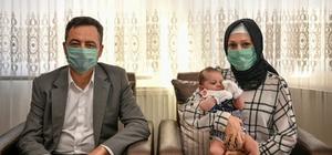Ahmet Melih bebeğin ilk altını Elbistan Belediyesi'nden
