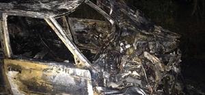 Traktörle kafa kafaya çarpışan otomobil yanarak hurda yığınına döndü Sürücü alev topuna dönen LPG'li otomobilde yanmaktan kıl payı kurtuldu