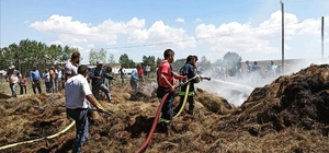 Özalp ilçesinde ot yangını