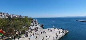 Sinop bayramda çekim noktası oldu Şehre 70 bine yakın araç girişi oldu