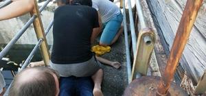 Sulama kanalına düşerek sürüklenen çocuk yaşam mücadelesi veriyor