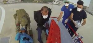 Yaralı dağcıyı askerler böyle kurtardı