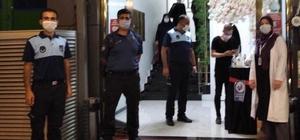 Serdivan'da salonlara korona virüs denetimi
